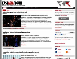 eastasiaforum.org screenshot