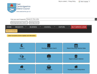 eastcambs.gov.uk screenshot