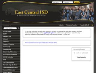 eastcentralisd.schoolfusion.us screenshot