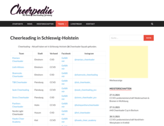 eastcoast-cheerleader.de screenshot