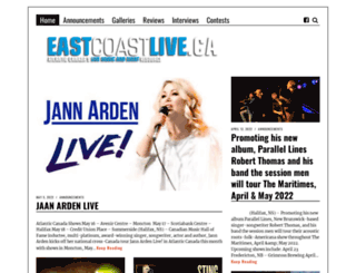 eastcoastlive.ca screenshot