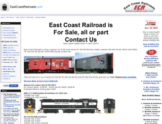 eastcoastrailroads.com screenshot