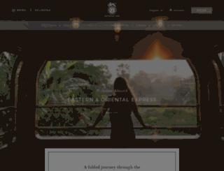 easternandorientalexpress.com screenshot