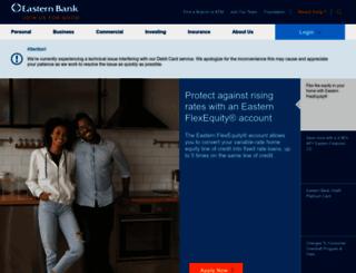 easternbank.com screenshot