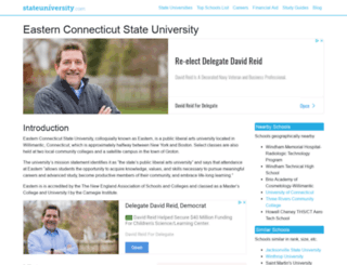 easternconnecticut.stateuniversity.com screenshot