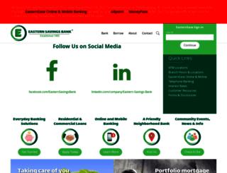 easternsavingsbank.com screenshot