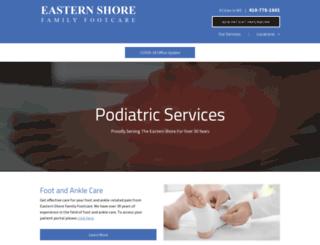 easternshorefamilyfootcare.com screenshot