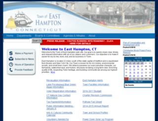 easthamptonct.org screenshot