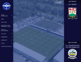 eastleighfc.com screenshot