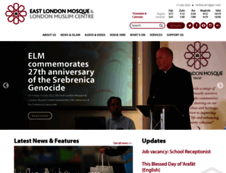 eastlondonmosque.org.uk screenshot