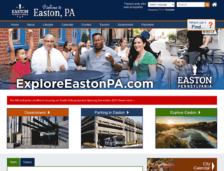 easton-pa.gov screenshot