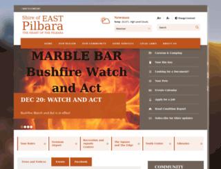 eastpilbara.wa.gov.au screenshot
