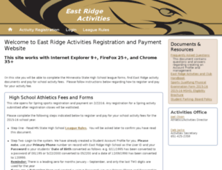 eastridge.registryinsight.com screenshot