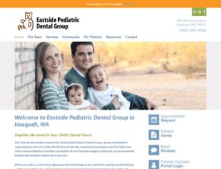 eastsidepediatricdentalgroup.com screenshot