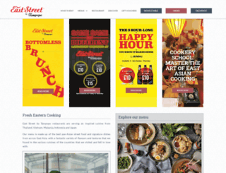 eaststreetrestaurant.com screenshot