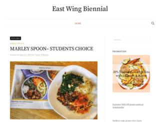 eastwingbiennial.org screenshot