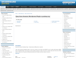 easy-azon-amazon-wordpress-plugin.sharewarejunction.com screenshot