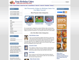 easy-birthday-cakes.com screenshot