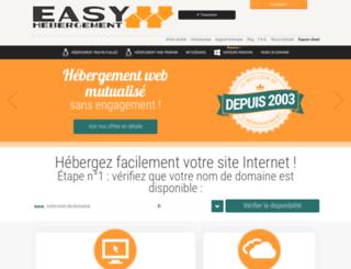 easy-hebergement.fr screenshot