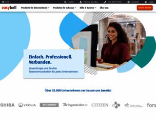 easybell.de screenshot