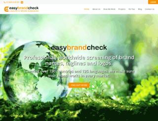 easybrandcheck.com screenshot