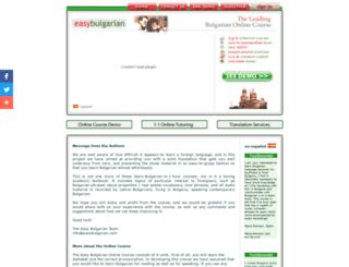easybulgarian.com screenshot