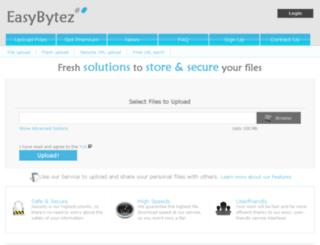 easybytez.com screenshot
