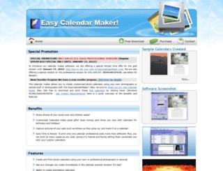 easycalendarmaker.com screenshot
