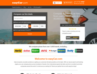 easycar.co.uk screenshot