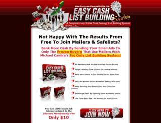 easycashlistbuildingsystem.com screenshot