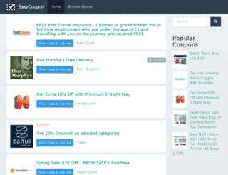 easycoupon.com.au screenshot