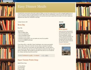 easydinnermeals.blogspot.com screenshot
