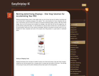 easydisplayireland.wordpress.com screenshot