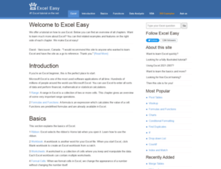 easyexceltutorial.com screenshot