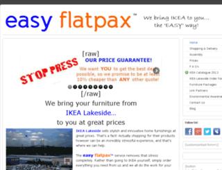 easyflatpax.co.uk screenshot