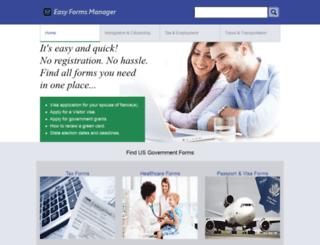 easyformsmanager.com screenshot