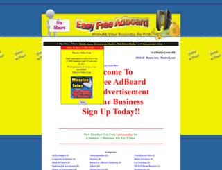 easyfreeadboard.com screenshot
