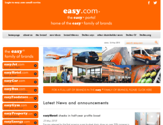 easyjetairline.com screenshot