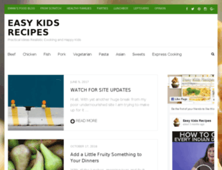 easykidsrecipes.com.au screenshot