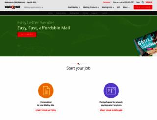 easylettersender.click2mail.com screenshot