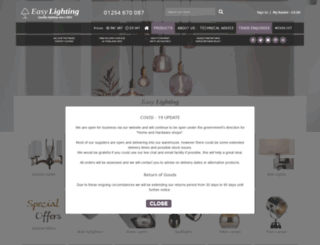 easylighting.co.uk screenshot