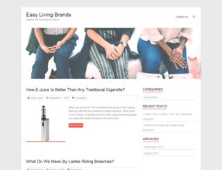 easylivingbrands.com screenshot