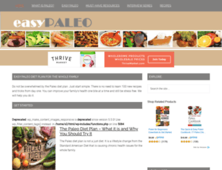 easypaleo.com screenshot