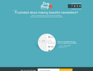 easypeasynewsletters.com screenshot