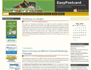 easypostcardmarketing.com screenshot
