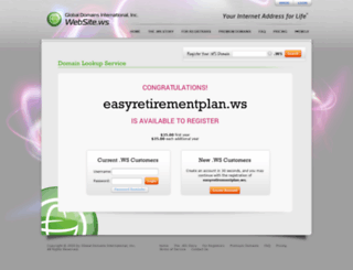 easyretirementplan.ws screenshot
