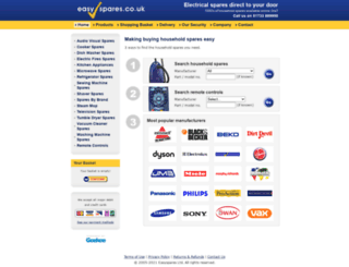 easyspares.co.uk screenshot