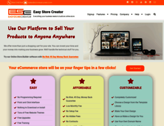 easystorecreator.com screenshot
