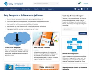 easytemplate.nl screenshot