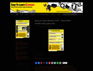 easytolearnkorean.com screenshot